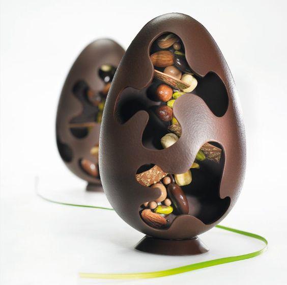 Les recettes de l'Ecole du Grand Chocolat - Oeuf Mendiant: