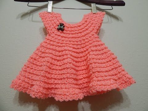 Este vestido esta tejido con estambre en 36 vueltas se puede tejer en cualquier talla desde 0 hasta la medida que necesites