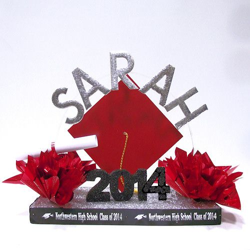 Make your own personalized graduation centerpiece with