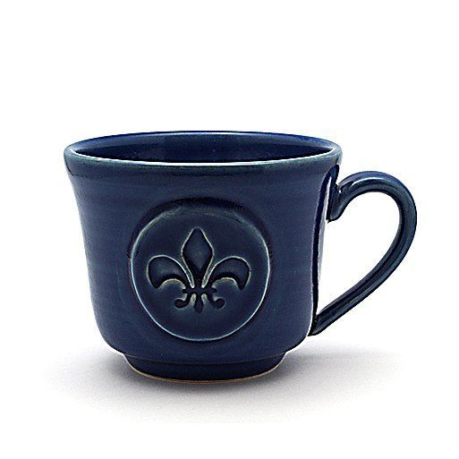 I am ABSOLUTELY in love with my new Fleur-de-lis mugs! Fresh from yesterday's kiln one is already packed up to head to its new home. I'll be listing this Cobalt Blue beauty on Etsy early next week but you guys have first dibs! by mirihardypottery