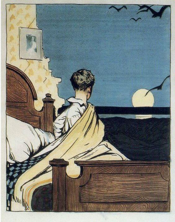 Boy  Moon, Edward Hopper: