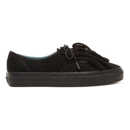 Chaussures en daim Authentic Fringe | Noir | Vans | Chaussure daim ...