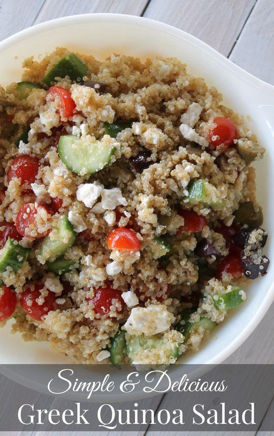 Greek quinoa salad, Quinoa salad and Quinoa on Pinterest
