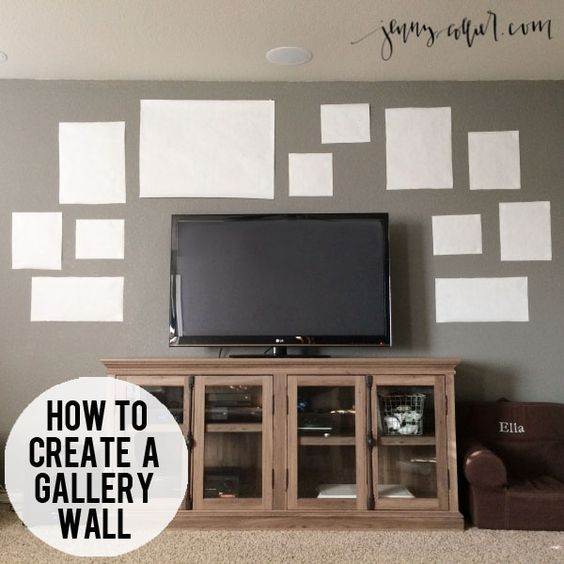 How to create a gallery wall photographers a tv and the for Wall mount tv ideas living room