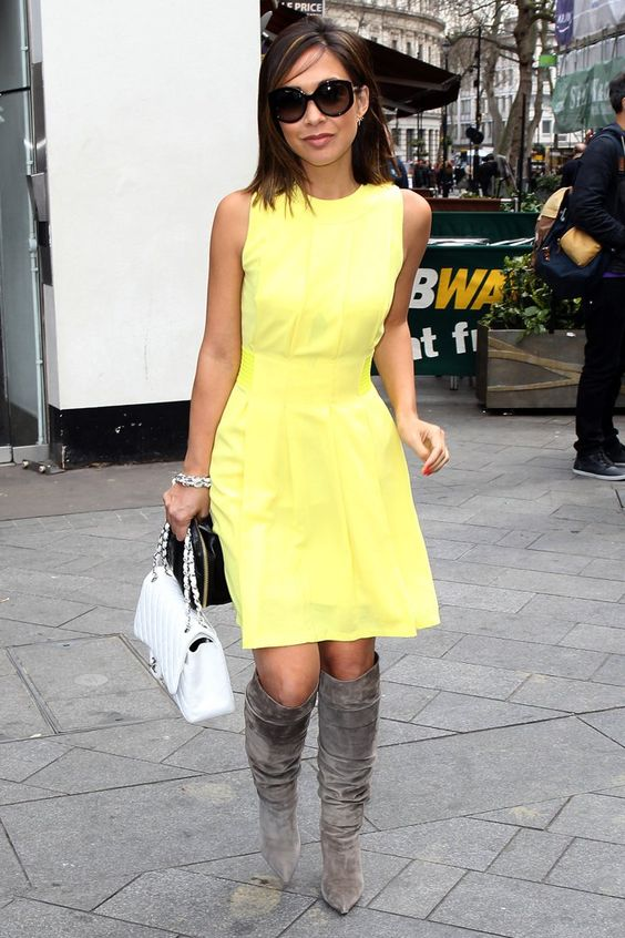 Pin for Later: Myleene Klass Isn't Letting the Colder Weather Affect Her Street Style
