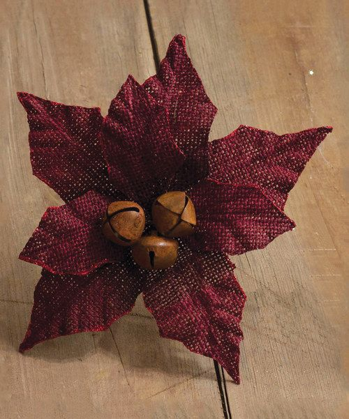 Look at this Red Large Burlap Poinsettia Décor on #zulily today!