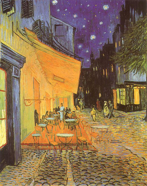 Café Terrace at Night, Vincent van Gogh, 1888