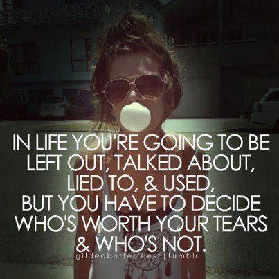 Who is worth it...