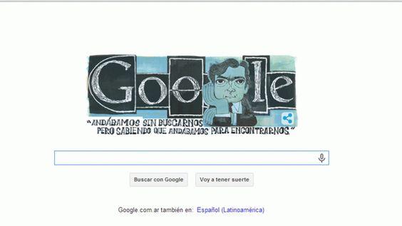 Google recuerda a Julio Cortázar, quien hoy hubiera cumplido cien años