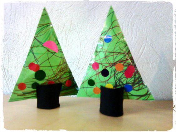 Bricolage de no l sapin moelleux r alis avec du coton for Decoration de noel pour enfant