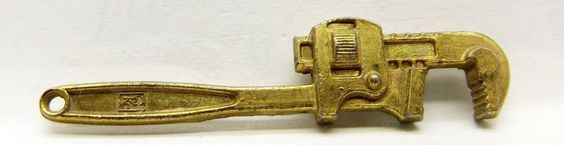 Vintage Advertising Charm Gries Reproducer Corp. (G.R.C) Monkey Pipe Wrench  #GriesReproducerCorp