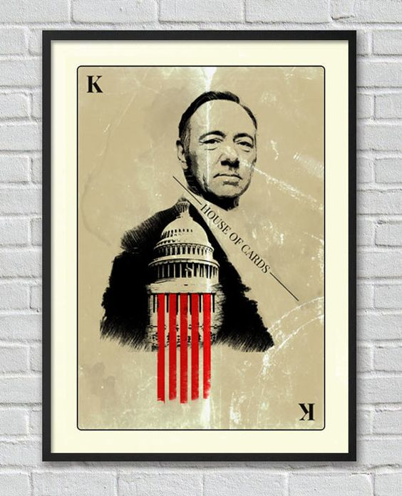 Frank Underwood House of Cards poster Kevin Spacey by Lautstarke