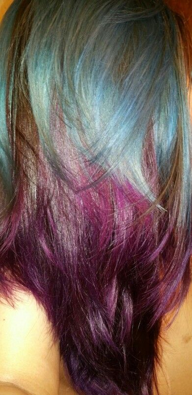Poseidon & purple rain Artic Fox...freakin ROCKS!  #ARCTICFOXHAIRCOLOR  #foxofthemonth