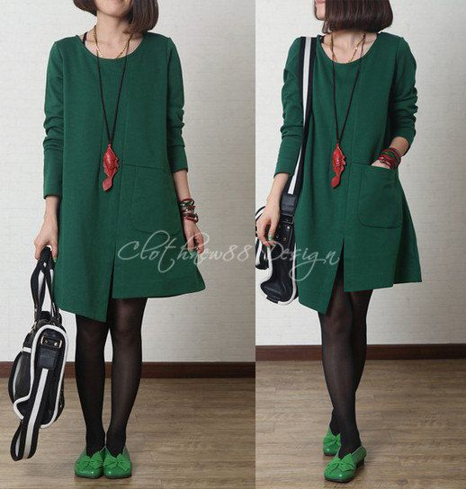 3 colors cotton Casual Long sleeved Tshirt Blouse by clothnew88, $52.99