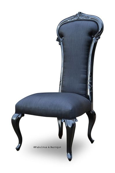 Black silk modern baroque and chairs on pinterest for Modern baroque furniture