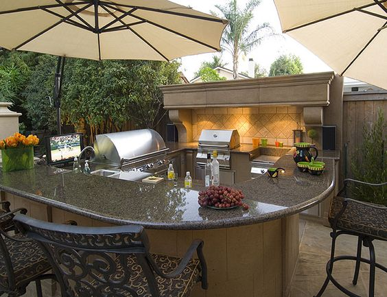 Bbq Island Outdoor Fireplaces And Outdoor On Pinterest