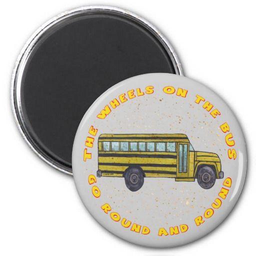 School Bus Wheels Magnets