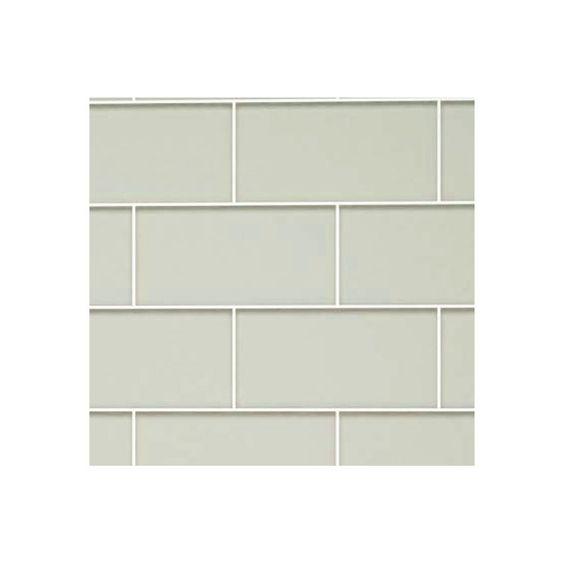 "Giorbello 3"" x 6"" Glass Subway Tile in Light Gray & Reviews | Wayfair"