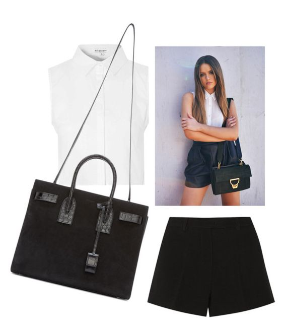 """""""Black & White"""" by maldoggie ❤ liked on Polyvore featuring Glamorous, Emilio Pucci and Yves Saint Laurent"""