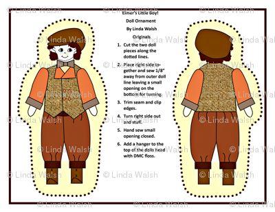 Elmers Little Boy Cut and Sew Doll by Linda Walsh