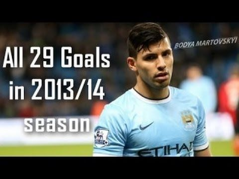 Sergio 'Kun' Aguero   All 29 Goals in Season   2013 14 HD