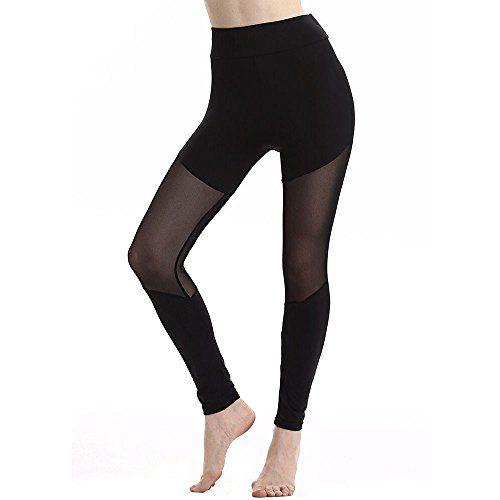 Pantalon De Yoga Coutures Mode Femmes Leggings Taille Haute /Élastique Yoga Fitness Sports Pantalons Trousers Pants pour Femmes