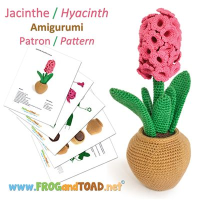 JACINTHE / HYACINTH par FROGandTOAD.net © #amigurumi #amigurumipattern #crochet #modèle #pattern #jacinthe #hyacinth #cute #love #happy #beautiful #flower #fleur: