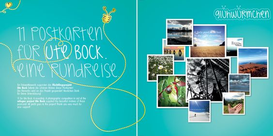 11 Postkarten für Ute Bock. eine Rundreise. von Glühwürmchen auf DaWanda.com