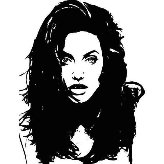 Angelina Jolie Vinyl Wall Art Decal 23 Quot X 30 Quot 21 99