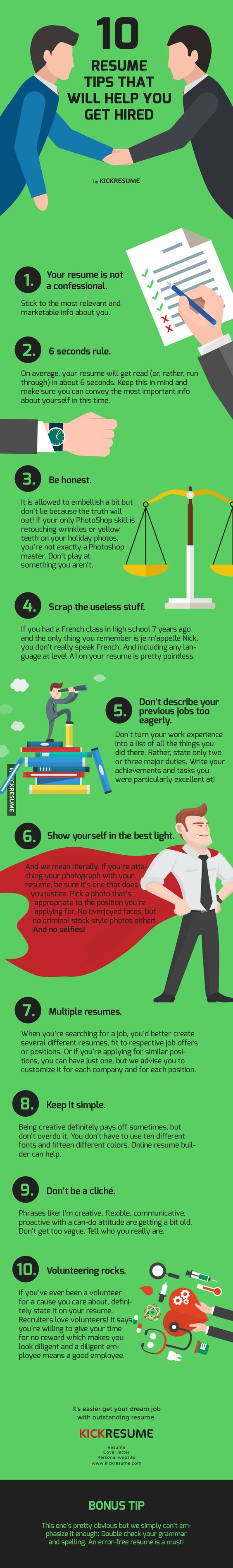 The Only Résumé Graphic You Need To Get Hired | High School, School And  Perfect Resume  Preferred Resume Group