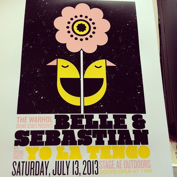 Belle and Sebastian/Yo La Tengo show poster. Photo by strawberryluna