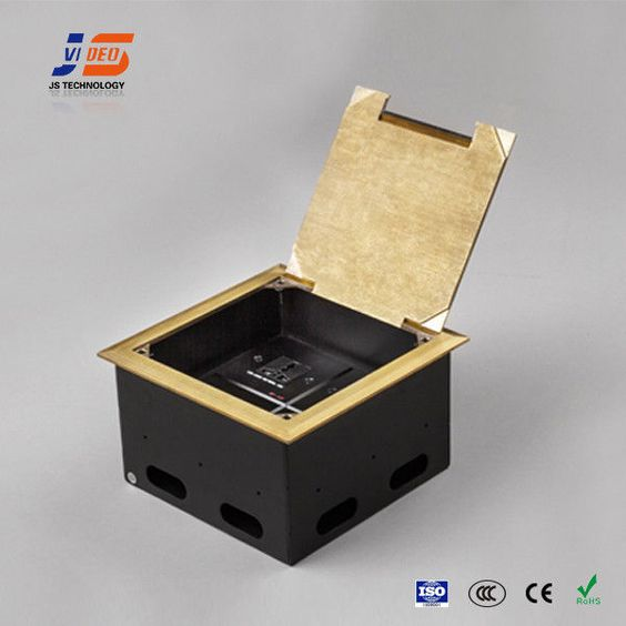 The concrete floor box accepts a large variety of power; data and audio/video…