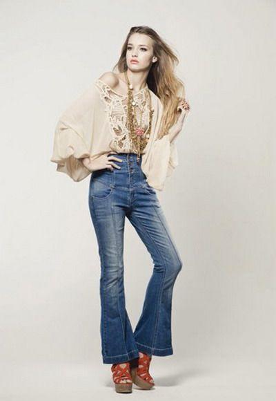 retro 70s fashion for women  Bell bottoms &amp paisley  Pinterest ...