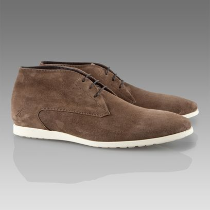 Taupe Suede Desert Boots