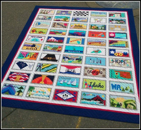 US License Plate Quilt