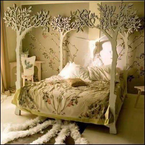 fairy woodland theme bedroom decorating ideas-fairy themed rooms #pretty #nature by mable