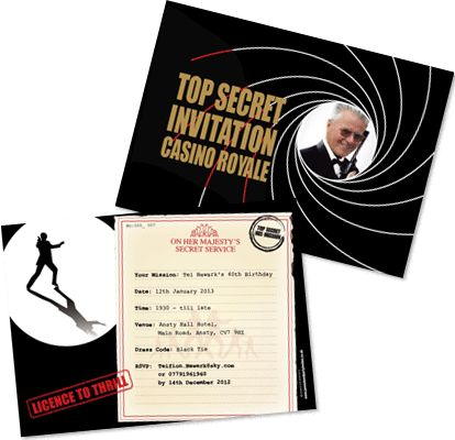Casino royale personalized party invitations red cliff casino