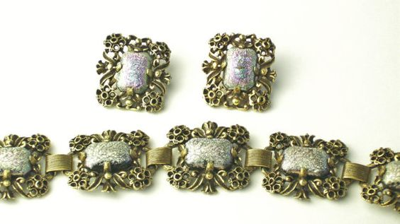 Vintage Judy Lee Filigree Silver Pink by WeLoveVintageJewelry, $45.00