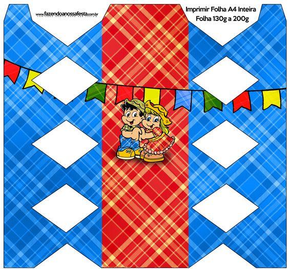 Caixa Bala Festa Junina::