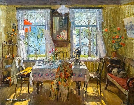 Выржиковский Ðдвард Яковлевич (1928-2008) «Праздничный день» 1985