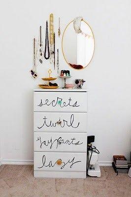 D.I.Y Dresser Idea for a little girls room