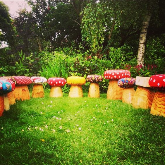 Gardens Mushrooms And Fairies On Pinterest
