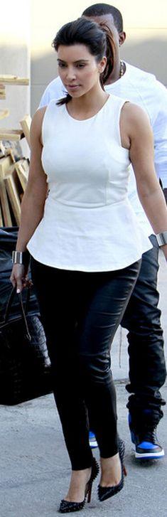 Shoes - Christian Louboutin Purse - Hermes Shirt - Zara Jeans - J Brand similar style shoes by the same designer Christian Louboutin Alti 140 spiked patent-leather pumps Christian Louboutin Pigalle 100 spiked patent-leather pumps similar style tops Sleeveless Peplum Top River Island Peplum Shell Top: Pumps Christian, Spike Pumps, Kim Kardashian Style, Kardashian Jenner, Leather Pumps, Fashion Kardashian, Peplum Top
