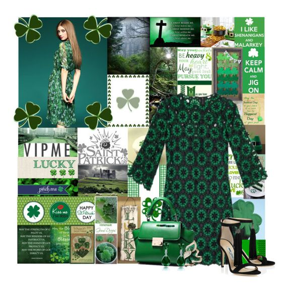 """""""Happy Saint Patrick's Day!"""" by cheyenne-muter ❤ liked on Polyvore featuring Dolce&Gabbana, GREEN, Irish, SaintPatricksDay, clovers and vipme"""
