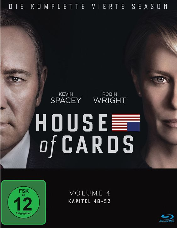 HOUSE OF CARDS Season 4 Blu-ray German Cover starring First Lady (Robin Wright) und Mr. President (Kevin Spacey) © SONY Home Entertainment / Netflix Entertainment - kulturmaterial
