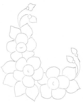 Resultado de imagem para pintura em tecido porcelanizada flores