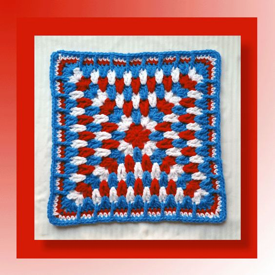 Free Crochet Pattern For New England Patriots Afghan : Patriot Square Patriotic DIY Decorating Ideas ...