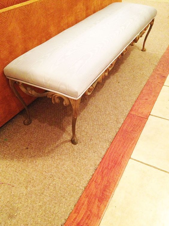 60's French Provincial Bench/ Upholstered end by KaliforniaVintage, $325.00