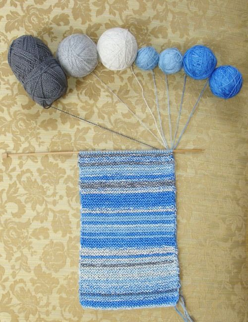 Fantastic idea. 365 day scarf, you knit a row each day representing the weather. How fun.