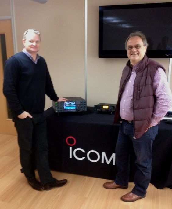 We were pleased to see Bob McCreadie G0FGX from the TX Factor today (http://www.txfactor.o.uk) .  Here he is with our Sales Director, Sam Taylor-Nobbs.  #icom #hamradio